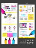 Simplicity one page website design Stock Images