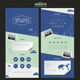 Simplicity one page website template design Stock Photography