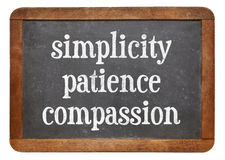 Simplicity, patience and compassion Royalty Free Stock Image