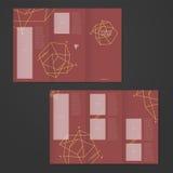 Simplicity tri-fold brochure template design Stock Photos