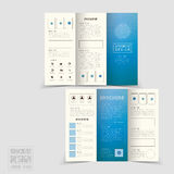 Simplicity tri-fold brochure template design Stock Photo