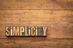 Free Simplicity Word Abstract Stock Images - 124291614