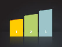 Simplier three-column chart in pastel colors Stock Photography