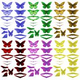 Simplified butterflies Stock Photos