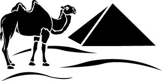Simplified camel stencil Stock Photo