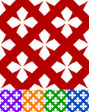 Simplified design of a classic folk textile, embroidery, carpet. Pattern Royalty Free Stock Images