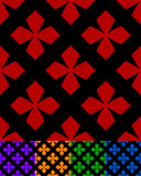 Simplified design of a classic folk textile, embroidery, carpet. Pattern Stock Photos