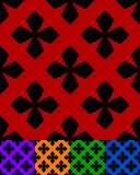 Simplified design of a classic folk textile, embroidery, carpet. Pattern Stock Image