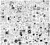 simplified design elements doodle icons Royalty Free Stock Photo