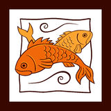 Simplified fish illustration Stock Photo