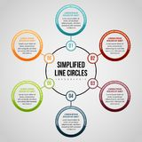 Simplified Line Circles Infographic Royalty Free Stock Photo