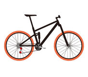 Simplified vector full-suspension mountain bike Stock Images