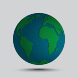Simplified vector globe map Stock Photo