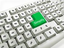 Simplifiez Photo libre de droits