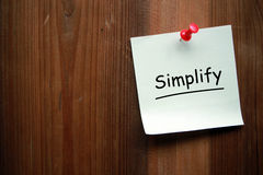 simplifiez photo stock