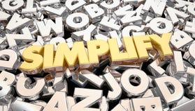 Simplifiez les lettres de Word de message Photographie stock libre de droits