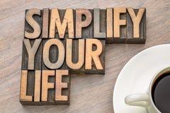 Simplifiez votre vie - exprimez l'asbtract dans le type en bois Images libres de droits