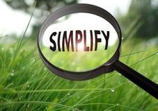 simplifique imagen de archivo libre de regalías