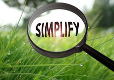Simplify Royalty Free Stock Image