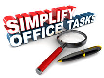 Simplify office tasks Stock Photo