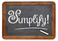 Simplify word on blackboard Royalty Free Stock Photography
