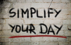 Simplify Your Day Concept Royalty Free Stock Photo