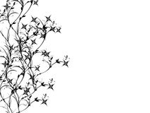 Simplistic. Grunge floral background black and white Royalty Free Stock Image