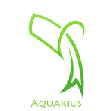 Simplistic Aquarius Zodiac Star Sign Royalty Free Stock Image