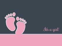 Simplistic baby shower greeting card invitation. Design Stock Photo