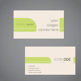 Simplistic business card design with slogan Royalty Free Stock Photography