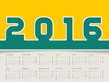 Simplistic 2016 calendar Stock Photo