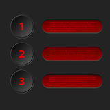 Simplistic 3d infographic in black red color Stock Photography