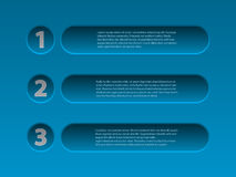Simplistic 3d infographic design in blue Stock Image