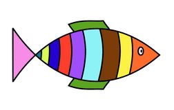 Simplistic fish Royalty Free Stock Image