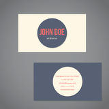 Simplistic flat business card Royalty Free Stock Image