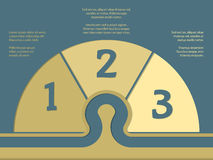 Simplistic infographic with numbers and options Royalty Free Stock Photo