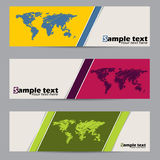 Simplistic label set with scribbled maps Stock Image