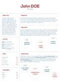 Simplistic modern cv curriculum vitae cv design Stock Image