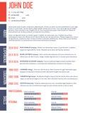 Simplistic yet modern cv resume template Stock Photo
