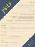 Simplistic modern resume cv template Royalty Free Stock Image