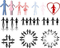 Simplistic people. Various illustrations of simplistic people Royalty Free Stock Images