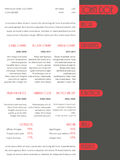 Simplistic resume curriculum vitae template with red stripes Royalty Free Stock Photos