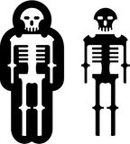 Simplistic skeleton Icon Vector eps Royalty Free Stock Images
