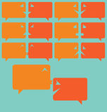 Simplistic speech bubbles as emoticons Royalty Free Stock Photography
