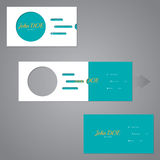Simplistic two piece business card with circle and lines Stock Photo