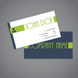 Simplistic two sided business card Royalty Free Stock Photo