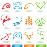 Simplistic zodiac star signs Stock Images