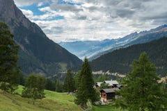 SIMPLON通行证,瑞士欧洲- 9月16日:从的看法 免版税图库摄影