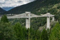 SIMPLON通行证,瑞士欧洲- 9月16日:从的看法 图库摄影