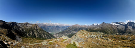 Simplon panaorama in summer Stock Photography